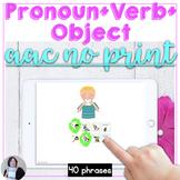 AAC Core Vocabulary Activity Pronoun Verb Object Phrase no print