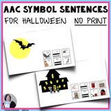 AAC Core Vocabulary Activities No Print Halloween Sentence