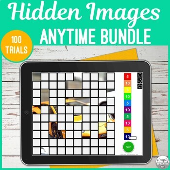 No Print Anytime Themed Hidden Photos Games for Speech and Articulation Bundle