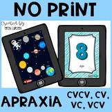 No Print Apraxia Interactive Games and Flashcards- CVCV, CV, VC, VCV