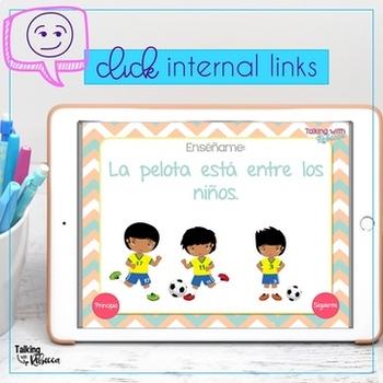 No Print Preposiciones Prepositions in Spanish for Speech Therapy
