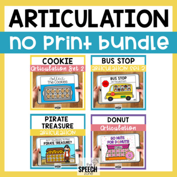 No Print Articulation Activity Bundle Later Developing Sounds