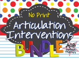 No Print Articulation Complete BUNDLE