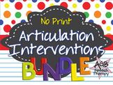 No Print Articulation Complete BUNDLE