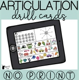 No Print Articulation Drill Cards Bundle | Speech Therapy Distance Learning