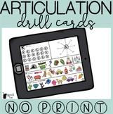 No Print Articulation Drill Cards Bundle