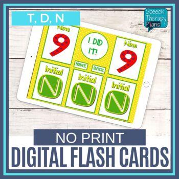 No Print Articulation Cards - T, D, N