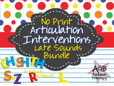 No Print Articulation Interventions Later Sounds Bundle