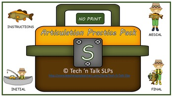No Print Articulation Practice Pack for S