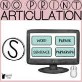 S Articulation No Print Progress Monitoring