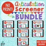 No Print Articulation Screener BUNDLE