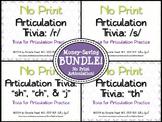 No Print Articulation Trivia: Bundle