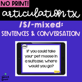 No Print Articulation Tx for Carryover: S Mixed  Teletherapy   Distance Learning