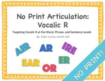 No Print Articulation: Vocalic R