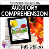 No Print Auditory Comprehension: Very Short Stories for FA