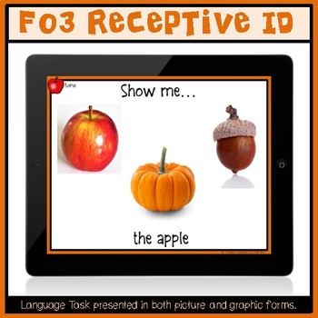 No Print:  Autumn Receptive and Expressive Language Tasks