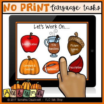 Language Tasks No Print: Autumn