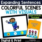 No Print Winter Activity for Wh Questions Pronouns Verbs & Simple Sentences 1