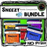 Sneezy Snowman No print Speech Therapy Book Companion  BUNDLE