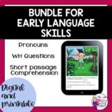 No Print | Teletherapy | Early Language Skills
