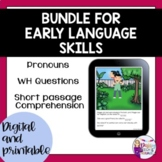 No Print | Teletherapy | Early Language Skills
