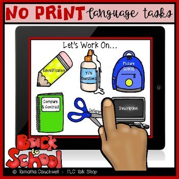 Language Tasks No Print: Back to School