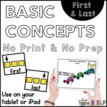 No Print Basic Concepts: First/Last w/Task Box Cards