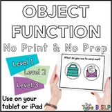 No Print Basic Concepts: Object Function with Task Box Cards