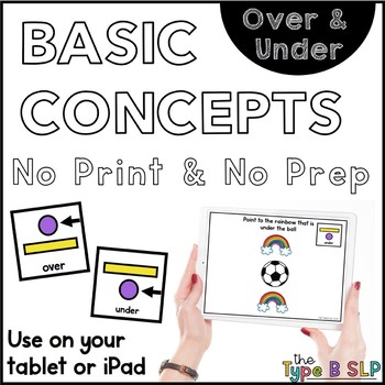 No Print Basic Concepts: Over/Under w/Task Box Cards