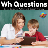 Wh Questions BOOM CARDS™ Speech Therapy