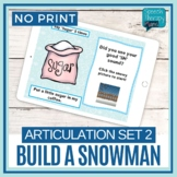 No Print Articulation Build A Snowman - Later Sounds