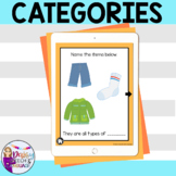No Print Categories for Speech Therapy, Teletherapy