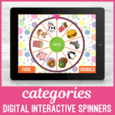 No Print Category Spinners for Speech Language Therapy