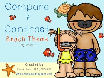 No Print: Compare and Contrast Beach Theme