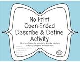 No Print - Describe & Define Activity