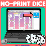 No Print Dice for Teletherapy - Easy to Split Screen - Ran