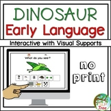 No Print Dinosaur Early Language Speech Therapy Interactive pdf