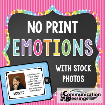 No Print Feelings and Emotions with real photos