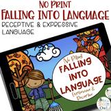 No Print Language - Fall Edition | speech therapy | distan
