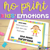 No Print Feelings and Emotions for Speech and Language Dis