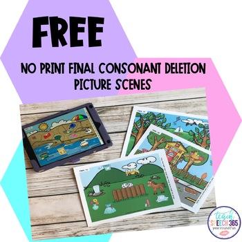 No Print Final Consonant Deletion Picture Scenes