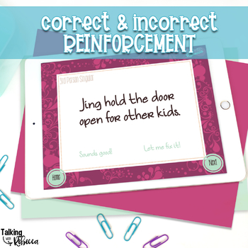 No Print Expressive and Receptive Grammar (for Speech Therapy)