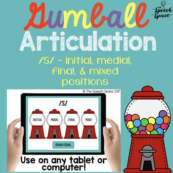 No Print Gumball Articulation - S Sound
