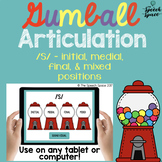 No Print Gumball Articulation - S Sound   Teletherapy   Distance Learning