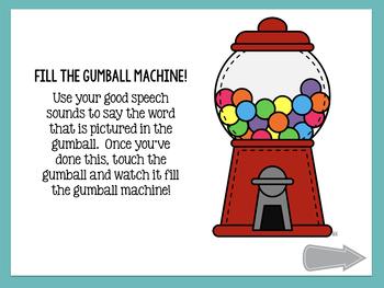 No Print Gumball Articulation - /g/ Sound