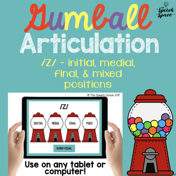 No Print Gumball Articulation - /z/ Sound