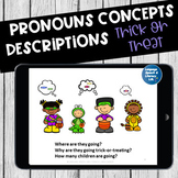 No Print Speech Therapy Language Activity for Halloween   Teletherapy
