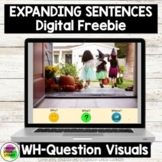 FREE No Print Fall Halloween Expanding Sentences Using Visual Cues | Real Photos