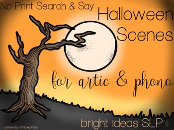No Print Halloween Scenes
