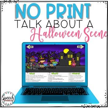No Print Halloween Talk About a Scene